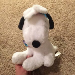 EUC: Musical Snoopy. Easter bunny ears and bow tie